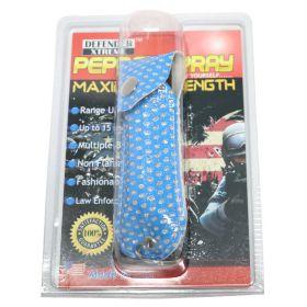 Defender-Xtreme Pepper Spray 1/2 Oz Self Defence W/ Blue Bling Sheath Key Chain