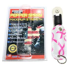 Defender-Xtreme Pepper Spray 1/2 Oz Self Defense Breast Cancer Awarness Sheath