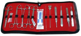 18 Pcs of Minor Surgery Set Surgical Instruments kit Stainless Steel