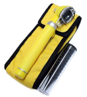 Fiber Optic Otoscope Mini Pocket Yellow Medical Ent Diagnostic Set