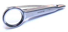 "3.5"" New Fine Point Tweezer With Magnifying Glass Stainless Steel"