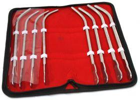 8 Pc Van Buren Urethral Sounds With A Carrying Case