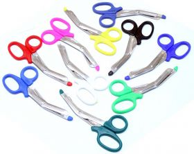 "Mixed Colors 5.5"" EMT EMS First Aid Rescue Trauma Shears Utility Scissors"