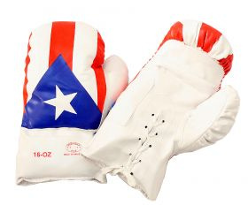 16oz  Puerto Rico Flag Boxing Gloves