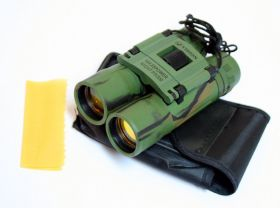10x25  Ruby Lense Perrini Binoculars Camo Good Quality With Pouch