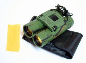 10x25  Ruby Lense Perrini Binoculars Camo Good Quality With Pouch
