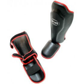 Black Fighting Shin Guards/Protector Foot Pad
