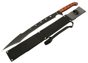 "26"" Machete Rosewood Handle Sharp Blade Ninja Sword"