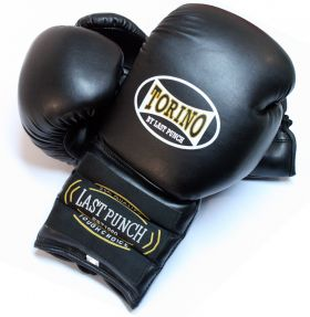 12oz Black Torino Boxing Gloves Heavy Duty