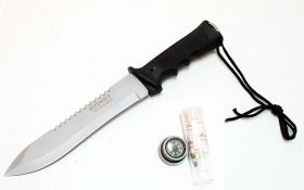 "14"" Heavy Duty Stainless Steel Survival Knife with Sheath"