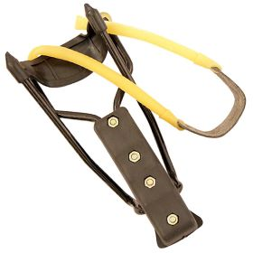 Metal Frame Arm Support Slingshot Hunt Powerful Rubber Quick Loading Handle New