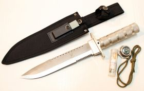 "14"" Stainless Steel Survival Knife Heavy Duty Fire Starter"