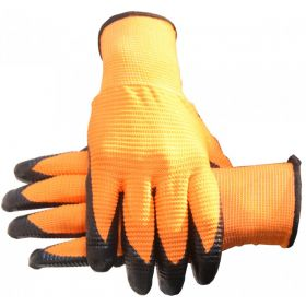 Orange Large Cut Resistant Gloves Dipped For Grip