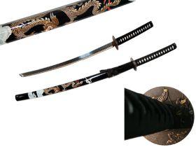 "40.5"" Black Collectible Dragon Katana Samurai Sword Ninja"
