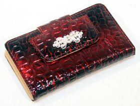 10 PC High Quality Dark Red Stylish Bag Kit Manicure Set