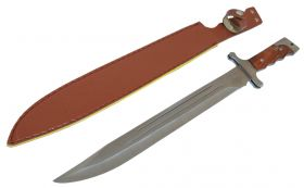 "18"" Full Tang Sword Wood Handle with Vinyl Sheath"