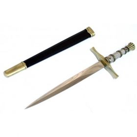 """15.5"""" Dagger Stainless Steel Collectible Style with Sheath"""