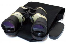 30X50 Black & Tan Free Focus High Resolution Compact  Binoculars 119M/1000M