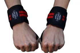"14"" Wrist Wrap Support Sports Elastic Weight Lifting Straps New With Thumb Loop"