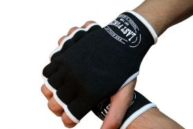 MMA Black Hand Wrap Training Gloves