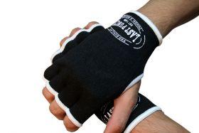 MMA Black Hand Wrap Training Gloves