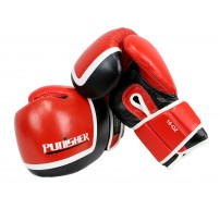 16oz Last Punch Red and Black Punisher Boxing Gloves