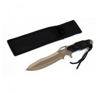 """Full Tang 12"""" Silver Combat Ready Hunting Knife With Sheath"""