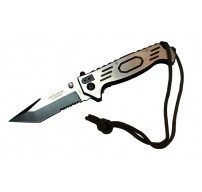 """9""""  Folding Spring Assisted Knife Stainless Steel Green Cord"""