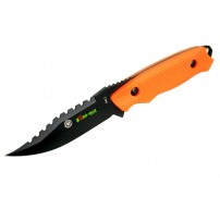 "8"" Zomb-War Rambo Hunting Knife with Sheath Orange"