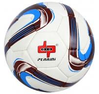 Perrini White/Brown/Blue Soccer Ball Size 5