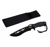 """Full Tang 12"""" Black Blade Combat Ready Hunting Knife With Sheath"""