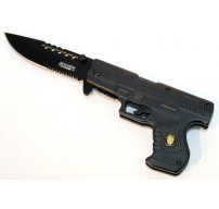 """8"""" Spring Assisted Gun Style Knife with Belt Clip"""