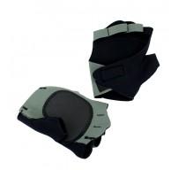 Perrini Gray Fingerless Sport Gloves with Velcro Wrist Strap
